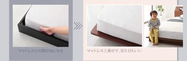 ベッドの溝